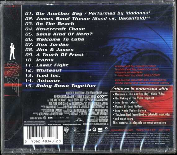 Die Another Day Soundtrack Argentina Enhanced Cd Sealed